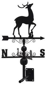 Aubry-Gaspard - girouette en fer forgé design cerf avec arabesques - Girouette