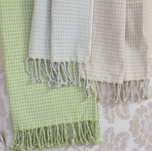 ITI  - Indian Textile Innovation - dobby two colour - Jeté De Lit
