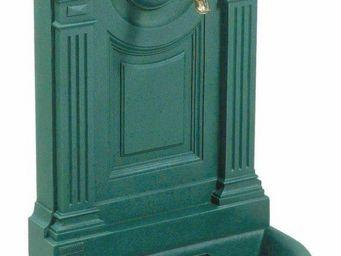 Fontes D'art De Dommartin - fontaine murale de jardin empire vert antique - Fontaine Murale D'extérieur