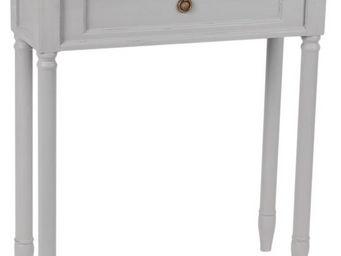 Amadeus - petite console en bois faux tiroir brice gris - Console