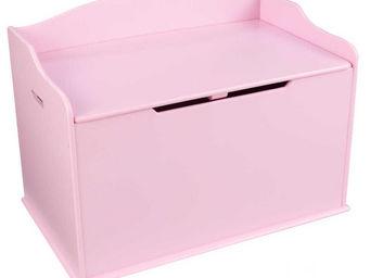 KidKraft - coffre à jouets en bois austin rose - Coffre À Jouets
