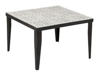 WHITE LABEL - bout de canapé carreaux ciment n°1 - carci - l 60  - Bout De Canapé