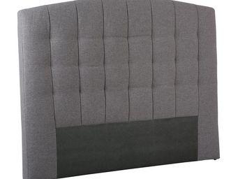 TOUSMESMEUBLES - t�te de lit tissu gris 160 cm - marion - l 160 x l - T�te De Lit