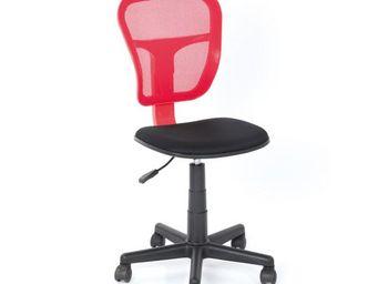 WHITE LABEL - chaise de bureau rouge - hispa - l 47 x l 41 x h 8 - Chaise De Bureau