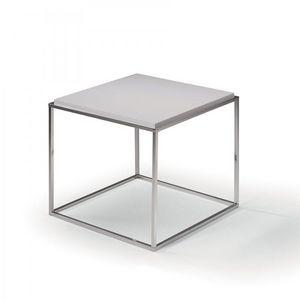 WHITE LABEL - bout de canapé carré mimi blanc mat - Bout De Canapé