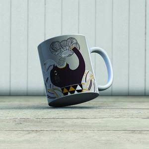 la Magie dans l'Image - mug ogre pluie fond gris - Mug