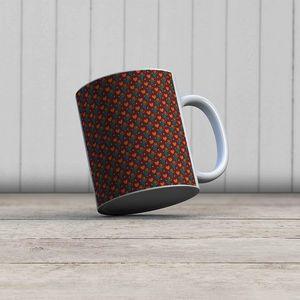 la Magie dans l'Image - mug petits coeurs orange - Mug