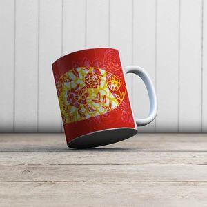 la Magie dans l'Image - mug poisson batik rouge - Mug