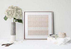 la Magie dans l'Image - print art anis beige blanc - Estampe