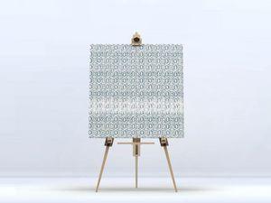 la Magie dans l'Image - toile anis vert-de-gris blanc - Impression Numérique Sur Toile