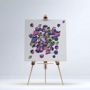 la Magie dans l'Image - toile fraises - Impression Numérique Sur Toile