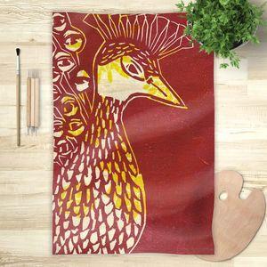 la Magie dans l'Image - foulard paon paon - Foulard Carré