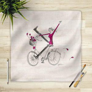 la Magie dans l'Image - foulard un vélo - Foulard Carré