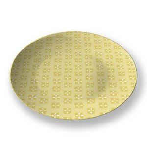 la Magie dans l'Image - assiette lotus jaune foncé - Assiette De Présentation