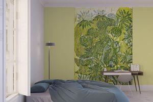 la Magie dans l'Image - grande fresque murale hibiscus et roses - Papier Peint Panoramique
