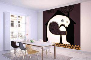 la Magie dans l'Image - grande fresque murale ogre maison fond marron - Papier Peint Panoramique