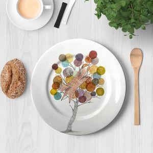 la Magie dans l'Image - assiette renarbre - Assiette De Présentation