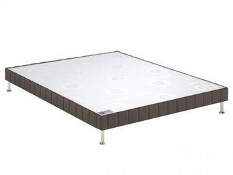 Bultex - bultex sommier tapissier confort ferme taupe long - Sommier Fixe À Ressorts