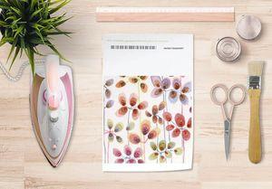 la Magie dans l'Image - papier transfert beautiful flowers - Transfert