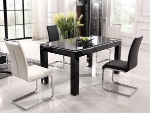WHITE LABEL - table nina - noir - Table De Repas Rectangulaire