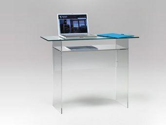 Marais International - console en verre et plexiglas - Console