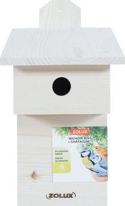 ZOLUX - nichoir en bois châtaigne - Maison D'oiseau