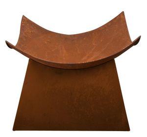Esschert Design - vasque carrée aspect rouillé - Brasero