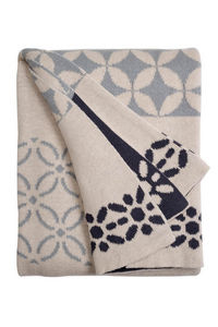 FABHABITAT - plaid coton riverway gris - Plaid