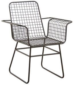Aubry-Gaspard - fauteuil en métal noir antique - Chaise