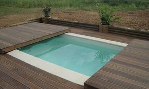Abri piscine POOLABRI -  - Abri De Piscine Plat Amovible