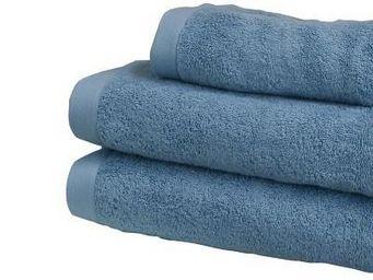 Liou - serviettes de toilette bleu tempête - Serviette De Toilette