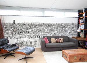 Ohmywall - papier peint vue de paris montparnasse tour eiffel - Papier Peint Panoramique