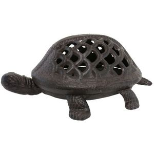 CHEMIN DE CAMPAGNE - statue tortue photophore bougeoir lanterne en font - Photophore