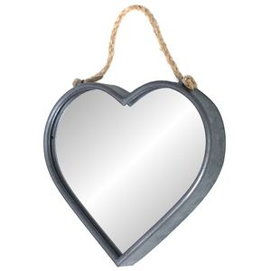 CHEMIN DE CAMPAGNE - miroir cour en zinc 30 cm - Miroir