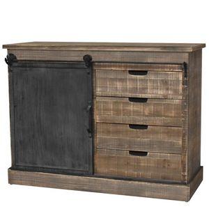 CHEMIN DE CAMPAGNE - bahut console commode meuble cuisine salon bois fe - Meuble De Cuisine (bas)