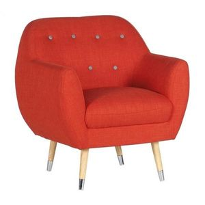 Mathi Design - fauteuil scandy orange - Fauteuil