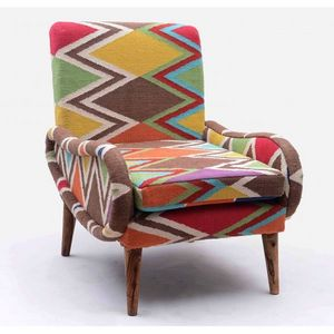 Mathi Design - fauteuil kilim shaki - Fauteuil