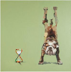 KOKOON DESIGN - toile murale imprimée doggy - Tableau Décoratif