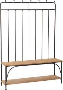 Amadeus - vestiaire d'entrée avec bancs métal et bois - Meuble D'entrée