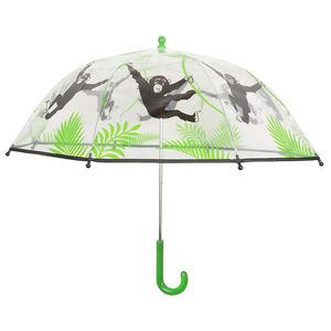 Esschert Design - parapluie transparent singe pour enfant - Parapluie