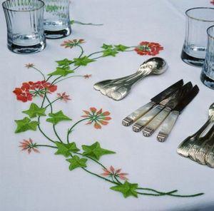 Noel - géraniums - Nappe Rectangulaire