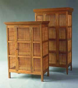 Matahati - grande armoire teck et bambou - Armoire À Portes Battantes