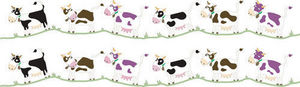 DECOLOOPIO - frise vache - Sticker Décor Adhésif Enfant