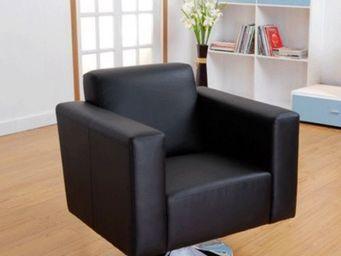 Miliboo - fauteuil boston noir - pivotant - Fauteuil Rotatif