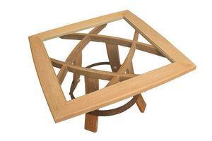 MEUBLES EN MERRAIN - carré devin - Table Basse Carrée