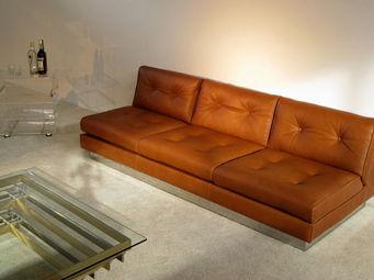 FURNITURE-LOVE.COM - leather living sofa 3 + 2 pierre folie charpentier - Canapé 3 Places