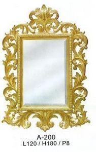 DECO PRIVE - miroir beauty dore 180 x 120 cm - Miroir