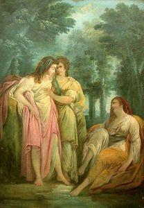 Galerie Emeric Hahn - trois femmes - Huile Sur Toile Et Huile Sur Panneau