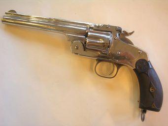 Aux Armes d'Antan - revolver smith & wesson new model n°3 - Pistolet Et Révolver