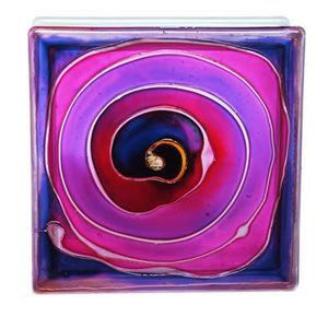 Painted glass blocks - spiral - Pavé De Verre